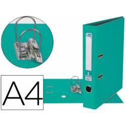 Archivador de palanca marca Liderpapel A4 verde claro compresor metalico