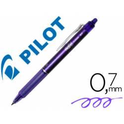 Boligrafo Borrable Pilot Frixion Clicker 0,4 mm color violeta