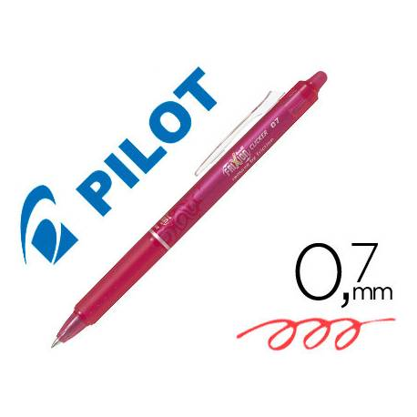 Boligrafo Borrable Pilot Frixion Clicker 0,4 mm color rosa