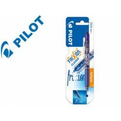 Boligrafo Borrable Pilot Frixion Clicker 0,4 mm color azul claro