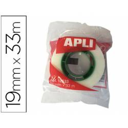 Cinta adhesiva invisible marca Apli 33 m x 19 mm