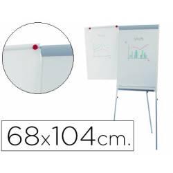 Pizarra Blanca Lacada Magnetica con Tripode 68x104 Rocada