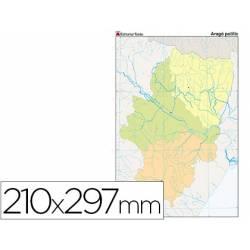 Mapa mudo político Aragón Tamaño Din A4