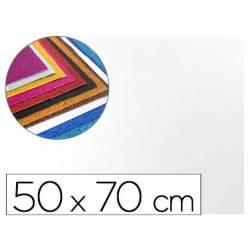 Goma Eva Liderpapel con purpurina 50x70cm 60g/m2 color blanco