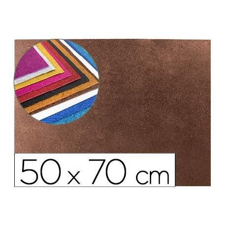 Goma Eva Liderpapel con purpurina 50x70cm 60g/m2 color marron