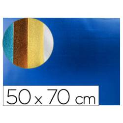 Goma eva Liderpapel Metalizada Azul 50X70 cm
