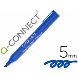 Rotulador Q-Connect punta de fibra permanente Color Azul 5mm