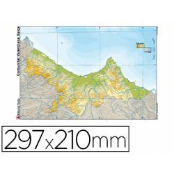 Mapa Mudo de Comunidad Valenciana DIN A4 Físico Color