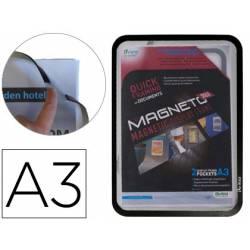 Marco porta anuncios Tarifold magneto A3 color negro