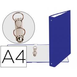 Carpeta Exacompta carton forrado azul 2 anillas