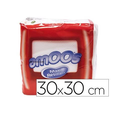 Servilletas de papel Amoos medidas 30x30 cm