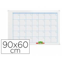 Planning Mensual Rotulable Magnético 90x60 cm Nobo