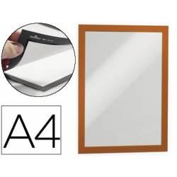 Porta anuncios Durable magnetico adhesivo A4 naranja