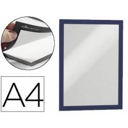 Porta anuncios Durable magnetico adhesivo A4 azul