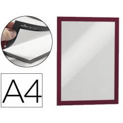 Porta anuncios Durable magnetico adhesivo A4 rojo