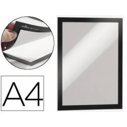 Porta anuncios Durable magnetico adhesivo A4 negro