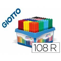 Rotulador Marca Giotto Turbo Maxi School Pack de 108 unidades