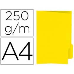 Subcarpeta cartulina color amarillo con pestaña derecha
