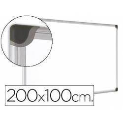 Pizarra Blanca Vitrificada Magnetica con marco de aluminio 200x100 Bi-Office