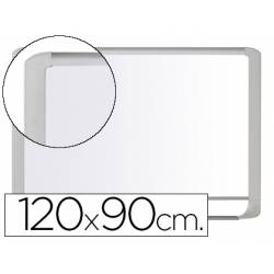 Pizarra Blanca Vitrificada Magnetica con marco de aluminio blanco 120x90 Bi-Office