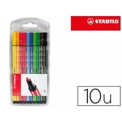 Estuche rotulador Stabilo Pen 68 acuarelable 10 unidades