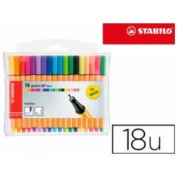 Rotulador Stabilo Point 88 Mini Estuche 18 Colores