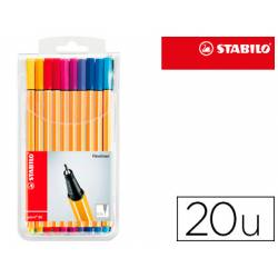 Rotulador Stabilo Point 88 Estuche 20 Colores
