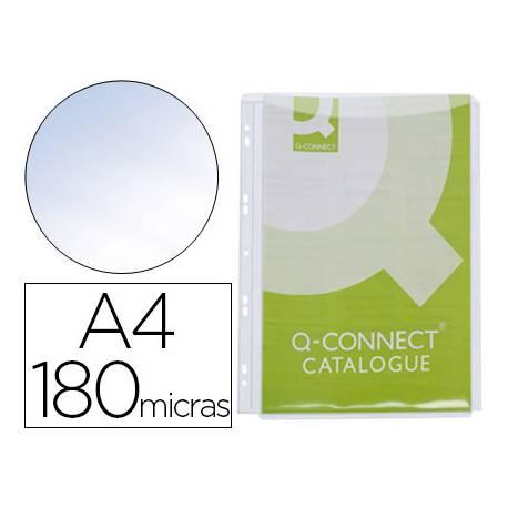 Funda multitaladro con fuelle marca Q-Connect Din A4 180 mc. Con 5 ud. por bolsa