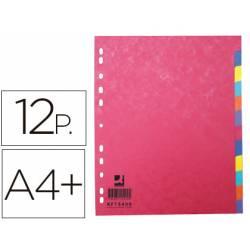 Separador Q-Connect Cartulina Juego 12 separadores A4+