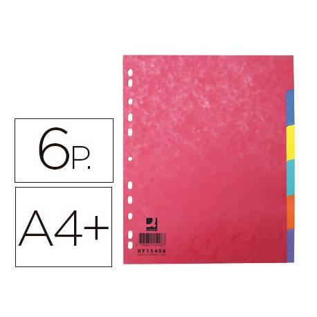 Separador Q-Connect Cartulina Juego 6 separadores A4+