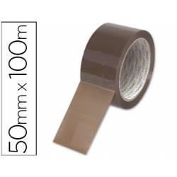 Cinta Q-Connect adhesiva Havana 100mx50mm