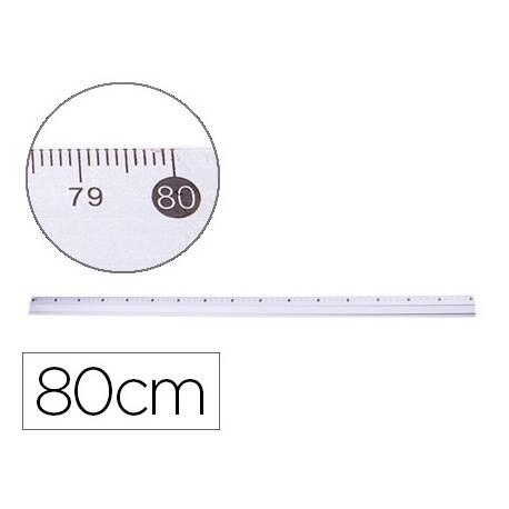 Regla Metalica marca Q-Connect Aluminio 80cm