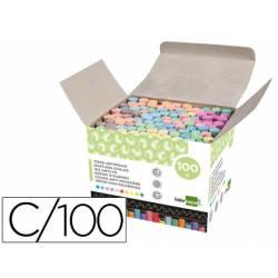 Tizas colores antipolvo Liderpapel caja de 100 unidades