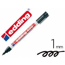 Rotulador Permanente Edding 400 Color Negro Punta Fina