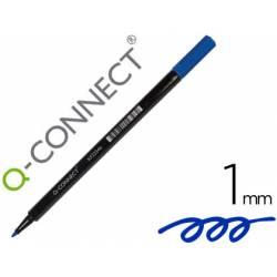 Rotulador Q-Connect punta de fibra redonda 1mm Color azul