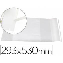 Forralibro Adhesivo marca Liderpapel con solapa ajustable 293x530 mm