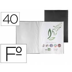 Carpeta escaparate Liderpapel folio con 40 fundas fijas