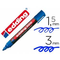 Rotulador Permanente Edding 300 Color Azul Punta Redonda