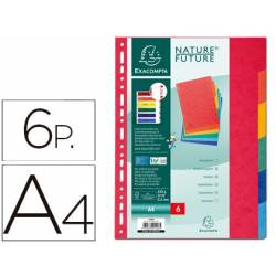 Separadores cartulina Exacompta Din A4 juego de 6 colores