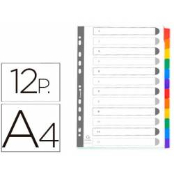 Separadores cartulina Exacompta Din A4 juego de 12 color blanco