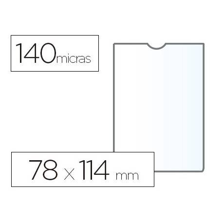 Funda portadocumento marca Esselte plastico cristal 78 x 114 mm