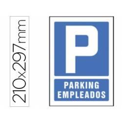 Señal marca Syssa parking empleados