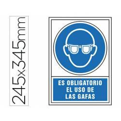 Señal marca Syssa obligatorio uso gafas