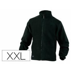 Chaqueta polar DeltaPlus color negro talla XXL