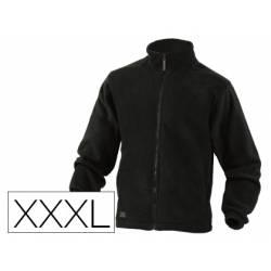 Chaqueta marca Deltaplus polar con cremallera negra 3XL