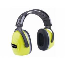 Casco antiruido marca Deltaplus amarillo