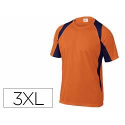 Camiseta manga corta DeltaPlus color naranja talla 3XL