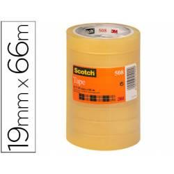 Cinta adhesiva marca Scotch transparente pack de 8