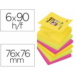 Pack blocs de Post-it ® 76 x 76 mm surtidos