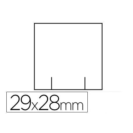 Etiquetas marca Meto blanca 29x28 mm troquelada rollo de 700 etiquetas